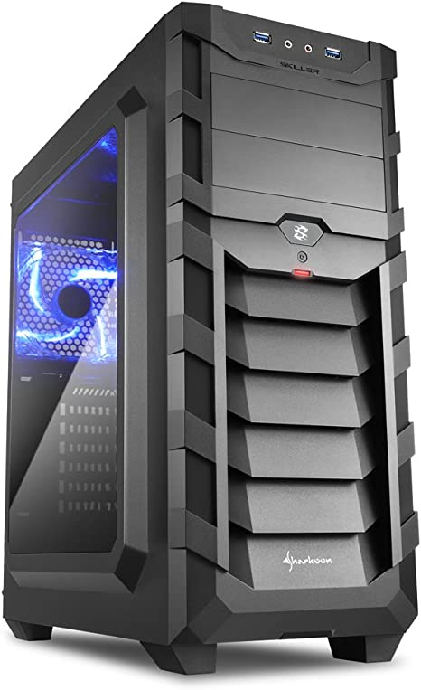 Sharkoon SGC1 WINDOW - Caja de Ordenador, PC Gaming, Semitorre ATX, Negro/Azul: Sharkoon: Amazon.es: Informática