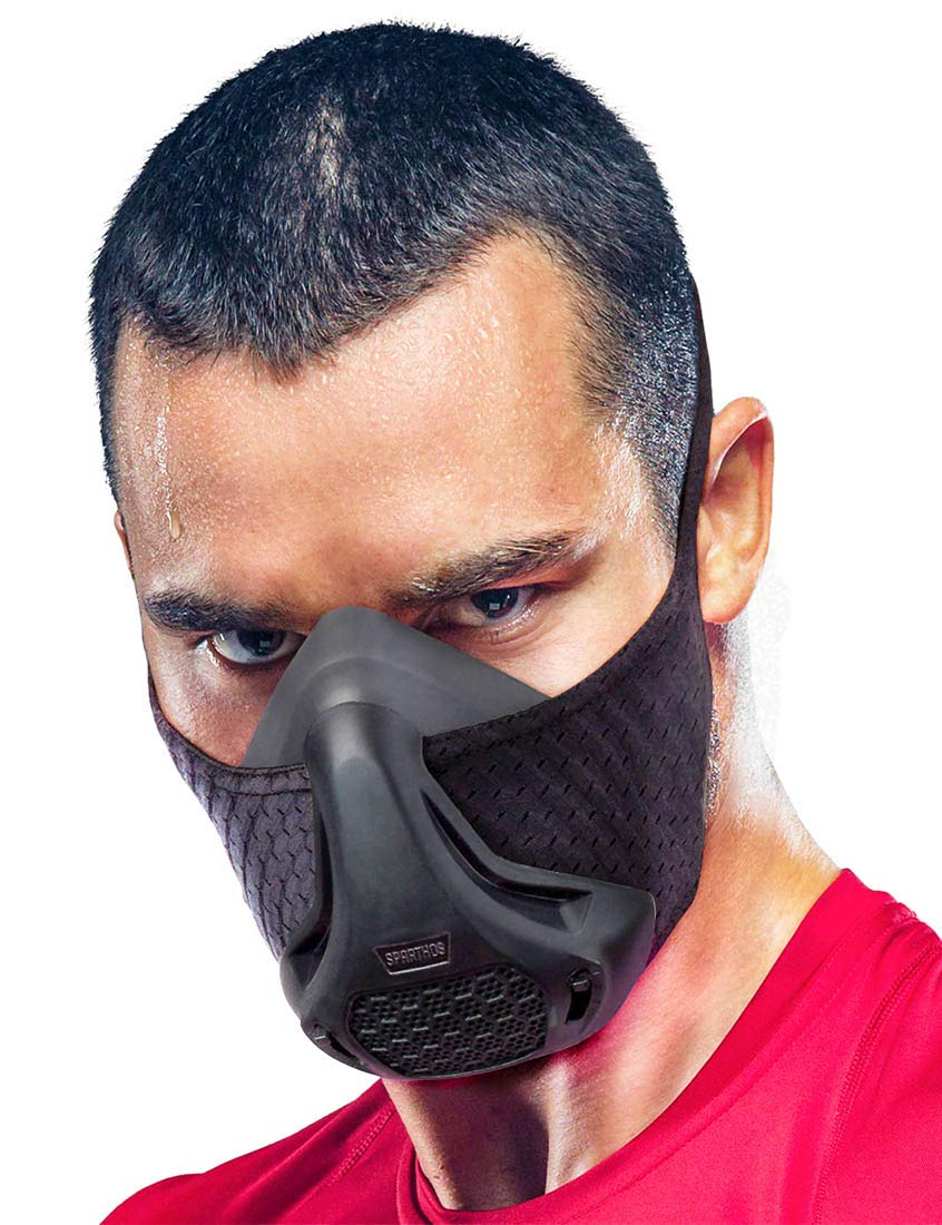 Sparthos Training Mask High Altitude Mask - for Gym Workouts, Running, Cycling, Cardio, Elevation - Fitness Training Mask - Hypoxic Resistance Mask 2 3 - Lung Exercise [+Case]