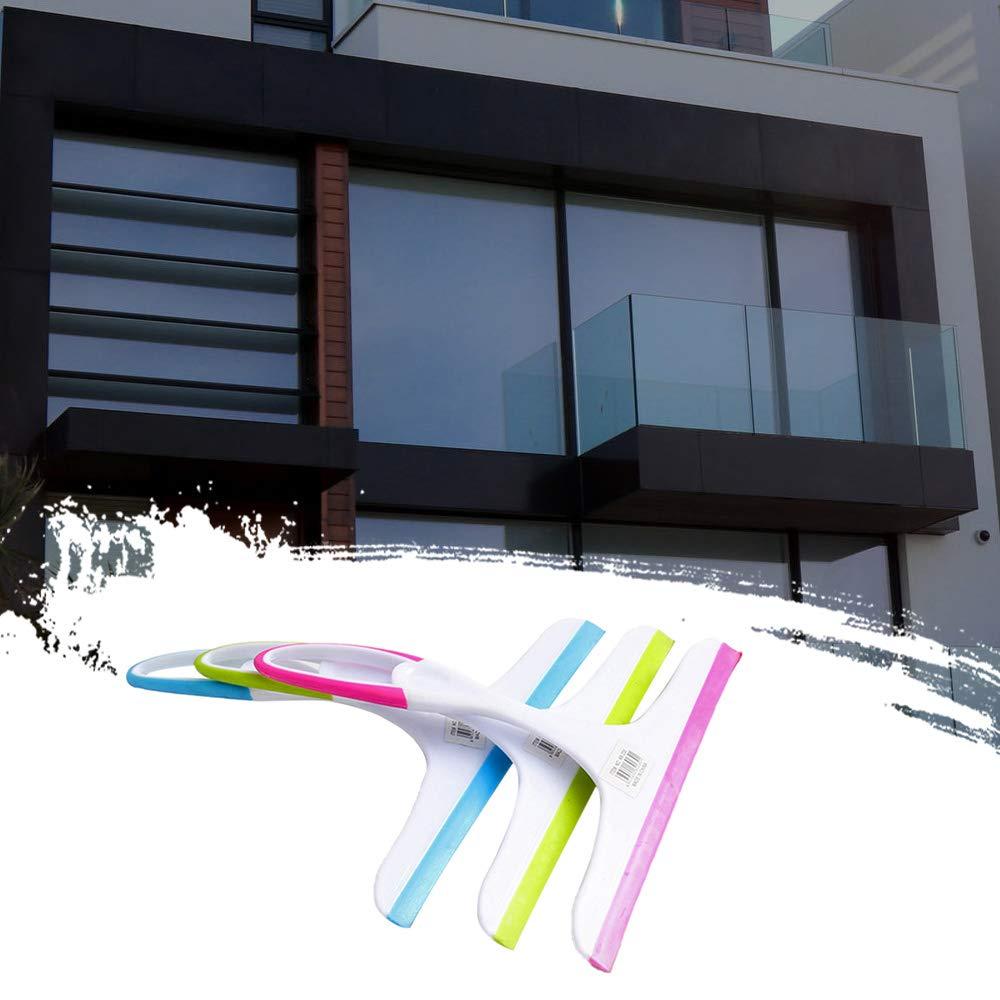 FairytaleMM Lightweight Sleek Squeegee Simple Plastic Glass Cleaner Glass Cleaner Bathroom Wall Cleaner Window Glass Scraper-random