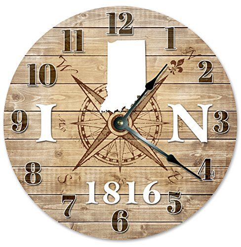 INDIANA CLOCK Established in 1816 Decorative Round Wall Clock Home Decor Large 10.5