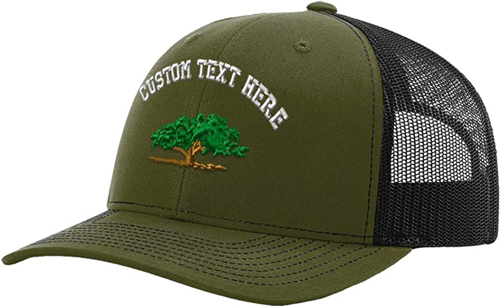 Custom Richardson Trucker Hat Tree Design C Embroidery Design Mesh Baseball Cap