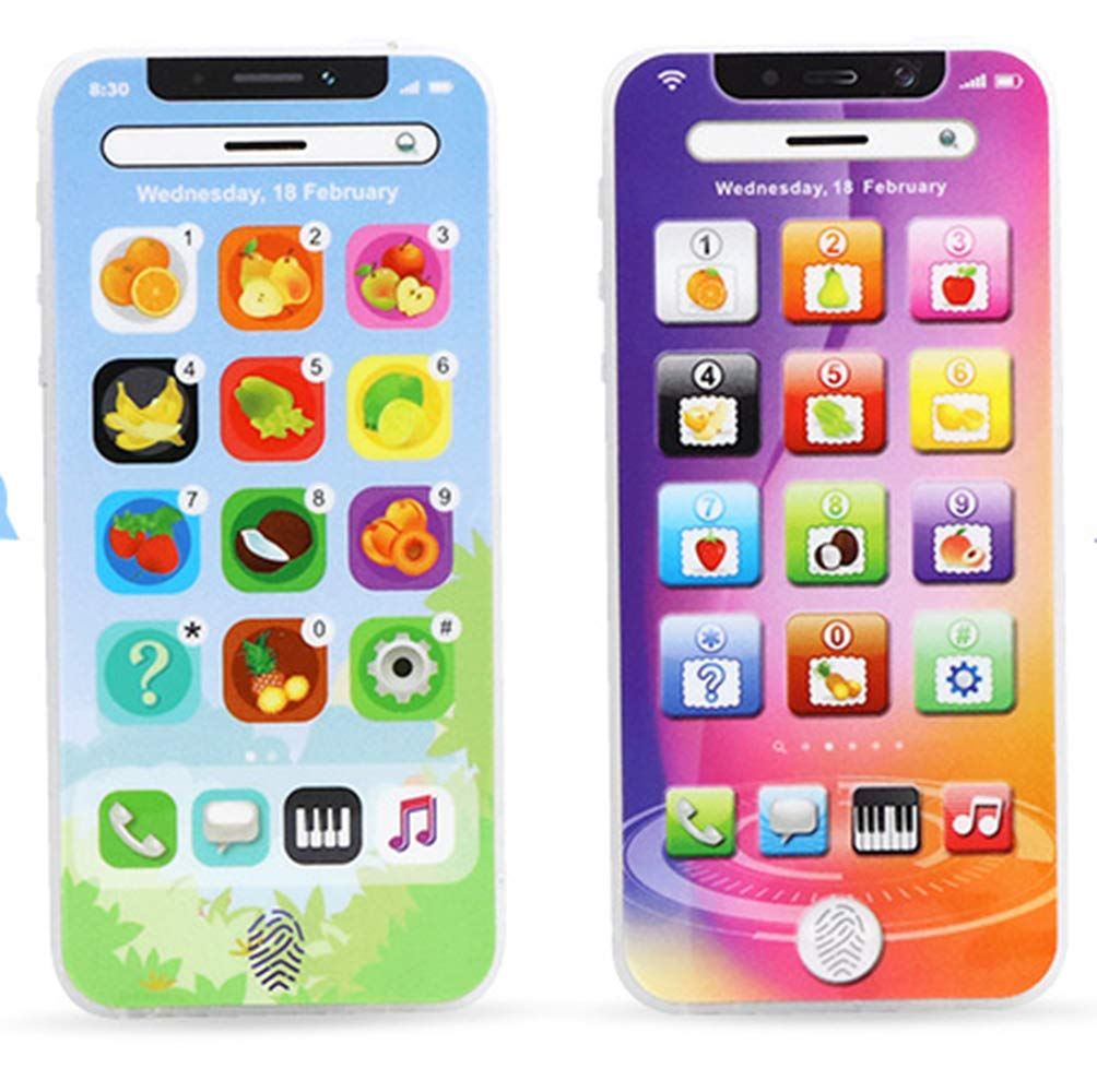 Mapnana 1 swtich 8 Modes Cool Phone in 2 Pack Birthday Present/ Party Draw Gift/ Toy for Age 3 by Mapnana