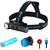 OLIGHT Perun 2000 Lumens Rechargeable LED Headlamp, Multi-functional Compact Hands-free Right-angle Light, 3500mAh 18650…