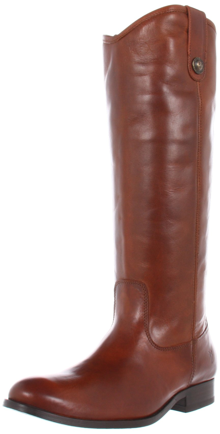 FRYE Women's Melissa Button Boot, Cognac Smooth Vintage Leather, 7.5 M US