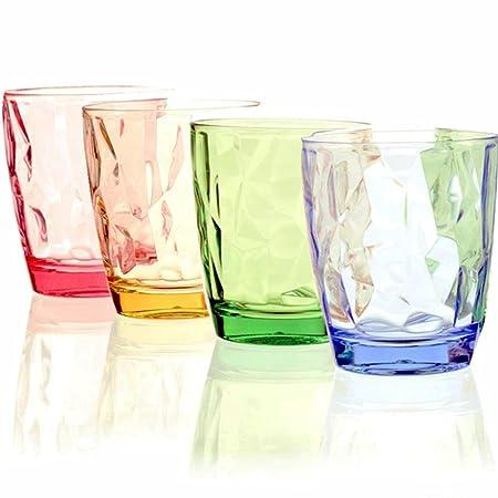 Vasos para beber 4 PACK-11OZ Restaurante de color acrílico ...