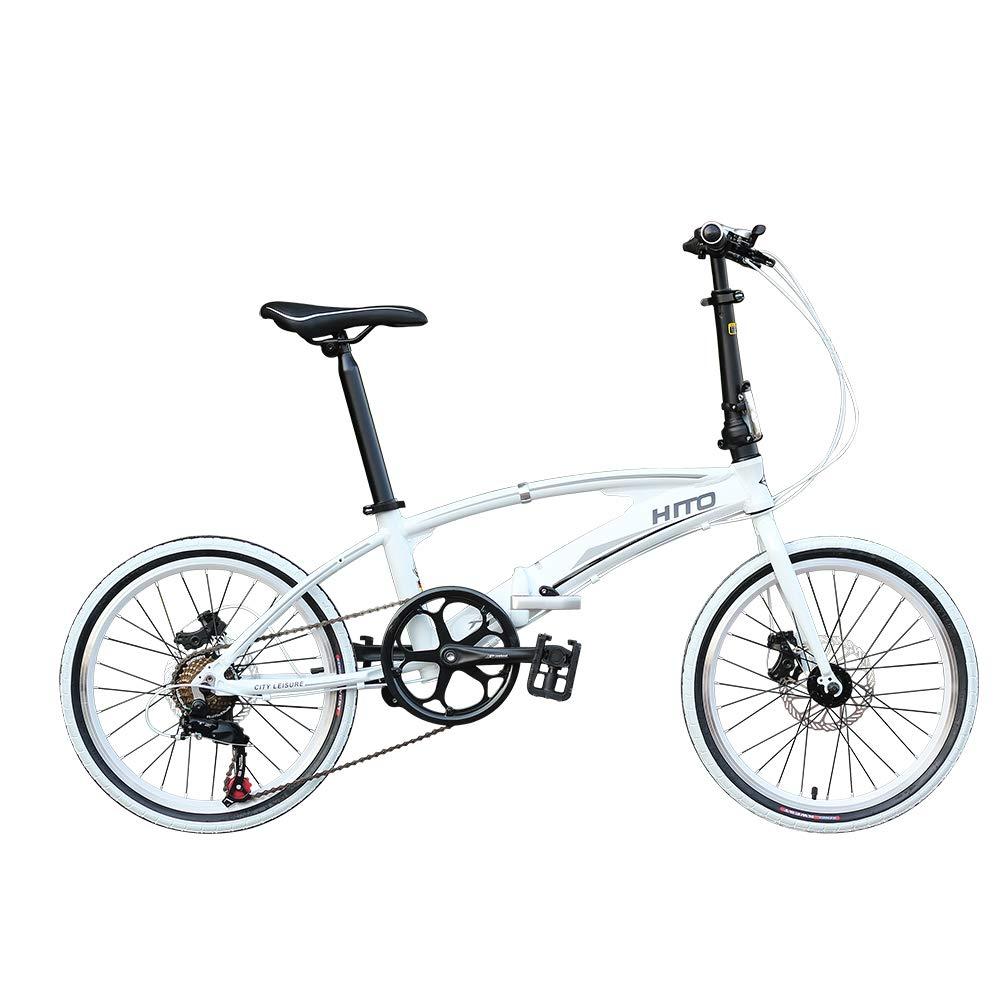 MIRACLEM Bicicleta Plegable Portátil De Aleación De Aluminio De 20/22 Pulgadas, Tubo Doble Ultra Ligero (12 Kg),White,20Inches: Amazon.es: Deportes y aire ...