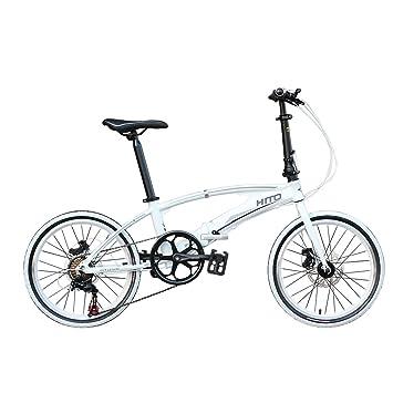 MIRACLEM Bicicleta Plegable Portátil De Aleación De Aluminio De 20/22 Pulgadas, Tubo Doble