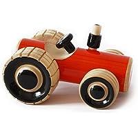 Maya Organic handcrafted Wooden Push Toy - Trako Tractor (Orange)