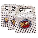 William & Douglas Ginger Ray Comic Superhero Treat Favor Boxes Party Supplies Decoration for Superhero Theme Children's Birthday Party Celebration (10 Pack)