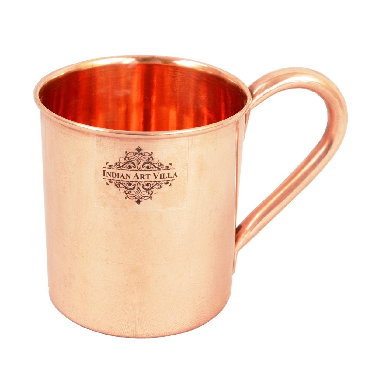 IndianArtVilla Pure Copper Moscow Mule Beer Mug Cup | 14 Oz Simply Classy | For Party, Home, Bar and Restaurant