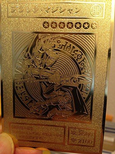 Dark Magician Yugioh Custom Metal Card Rare Limited Collection Golden Cards ()