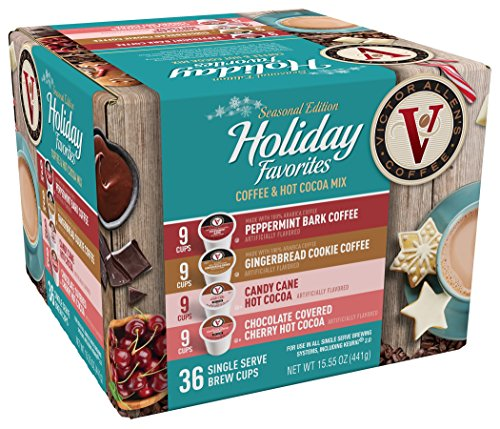 Victor Allen Coffee Holiday Favorites Coffee & Cocoa Mix, 36 Count (Compatible with 2.0 Keurig Brewers)]()