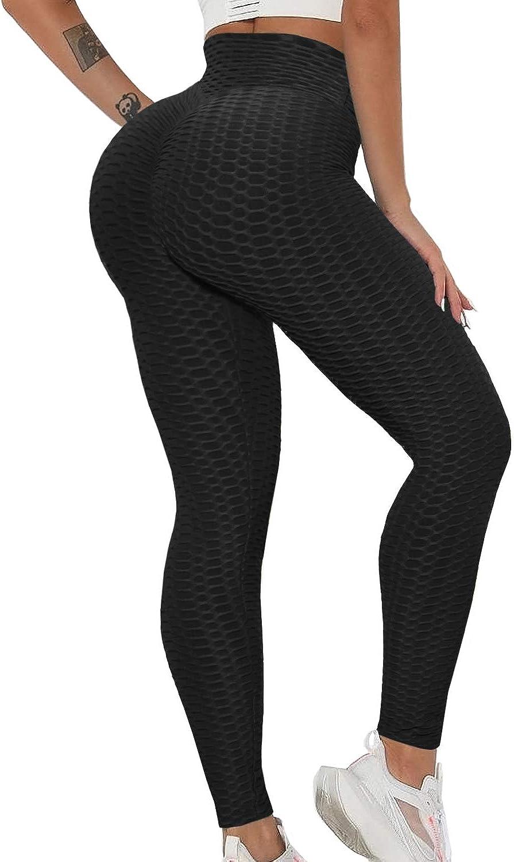 Women Yoga Pants Butt Lift High Waist Anti-Cellulite Gym Workout Ruched Leggings