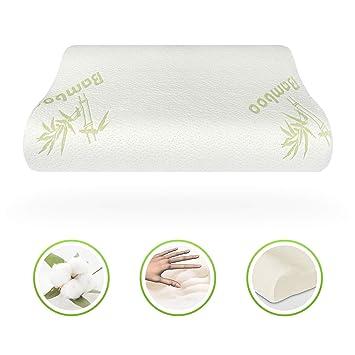 HomyLink Almohada de Espuma de Memoria para Cama diseñada para la prevención del Dolor de Espalda al Cuello y Alivio: Amazon.es: Hogar