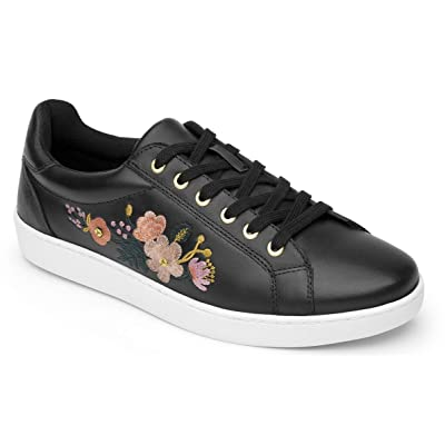 Flexi KINOA Women's Floral Sneaker Genuine Leather Casual Lace Up Shoe | 33513 | Fashion Sneakers
