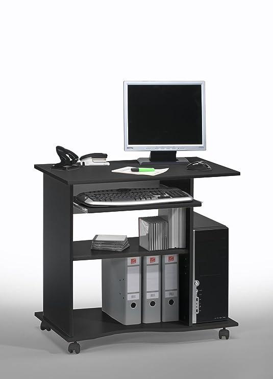 lyndan - Beaufort negro Compact ordenador mesa escritorio muebles ...