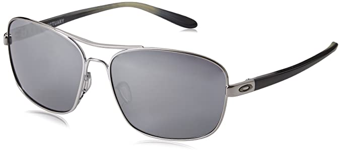 23b88016c9 Amazon.com  Oakley Women s Sanctuary Sunglasses Gunmetal Black  Clothing