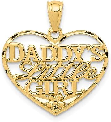 10K Yellow Gold Daddys Little Girl Charm Pendant
