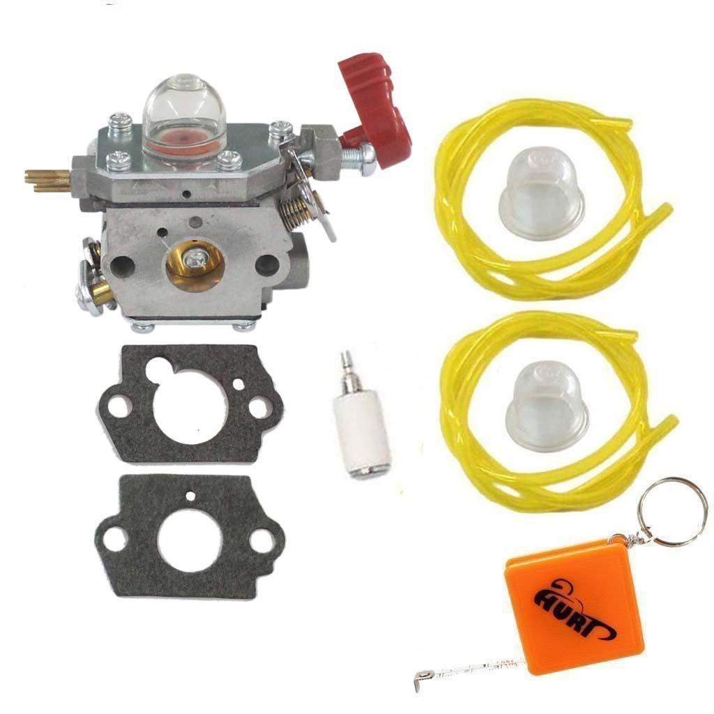 Huri Carburetor With Gasket Fuel Line Primer Bulb Filter For Trimmer Craftsman Troybilt Yard Machine