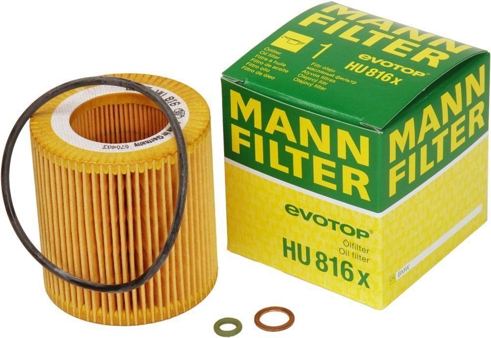 Mann-Filter HU 816 X Metal-Free Oil Filter Pack of 3