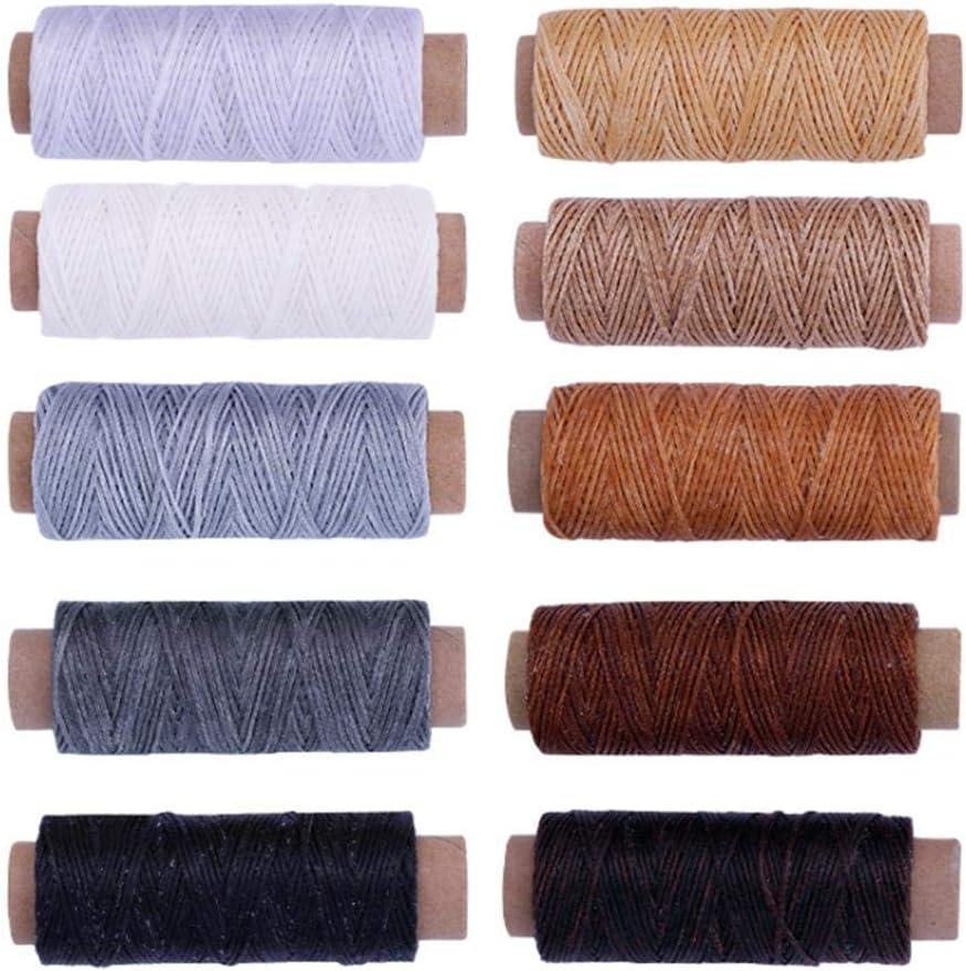 Hilo De Coser 10 Colores 150D Cuerda De Cera Adecuado Para Coser A ...