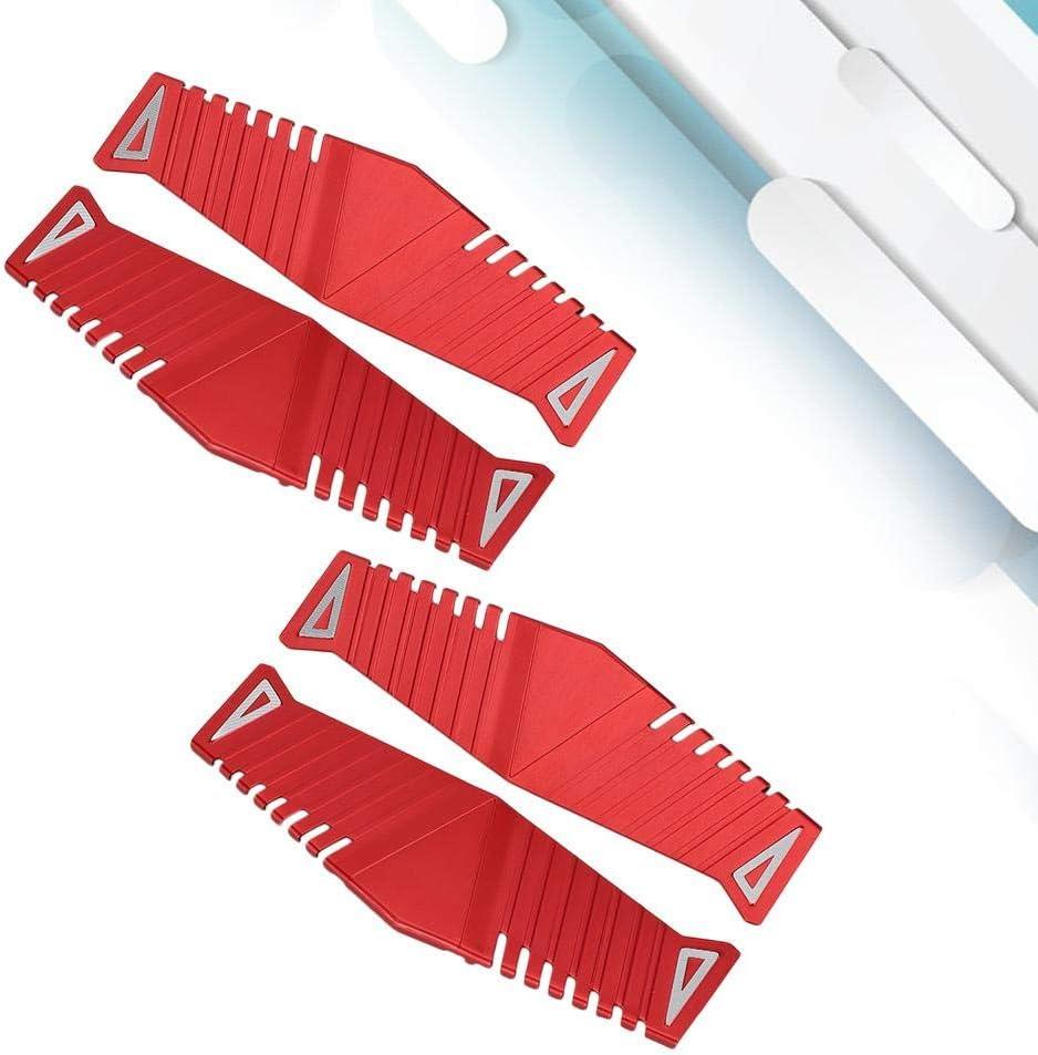 Gilet de Refroidissement dordinateur de radiateur en Aluminium de Banque de m/émoire de Bureau pour DDR//DDR2//DDR3//DDR4 Wendry 2 Set Dissipateur de Chaleur de Gilet de Refroidissement de m/émoire