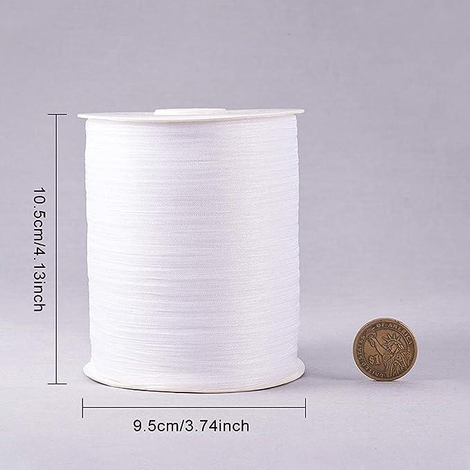 BENECREAT 914m 3mm Cinta de Organza Blanca Cinta Decorativa de Regalo Ornamento de Organza para Navidad Manulidad Fiesta