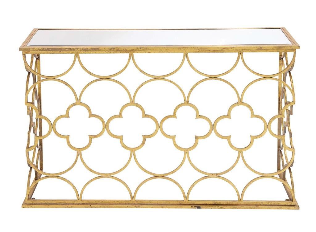 "Deco 79 67050 Metal Mirror Console Table, 49"" x 31"""