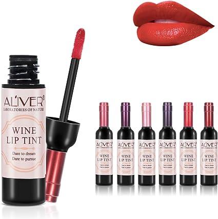 Lápiz labial líquido de 6 colores vino, Lady Long Lasting Make Up Mate Brillo de labios, Impermeable, Brillo, Tinte de labios Las mejores ideas de ...