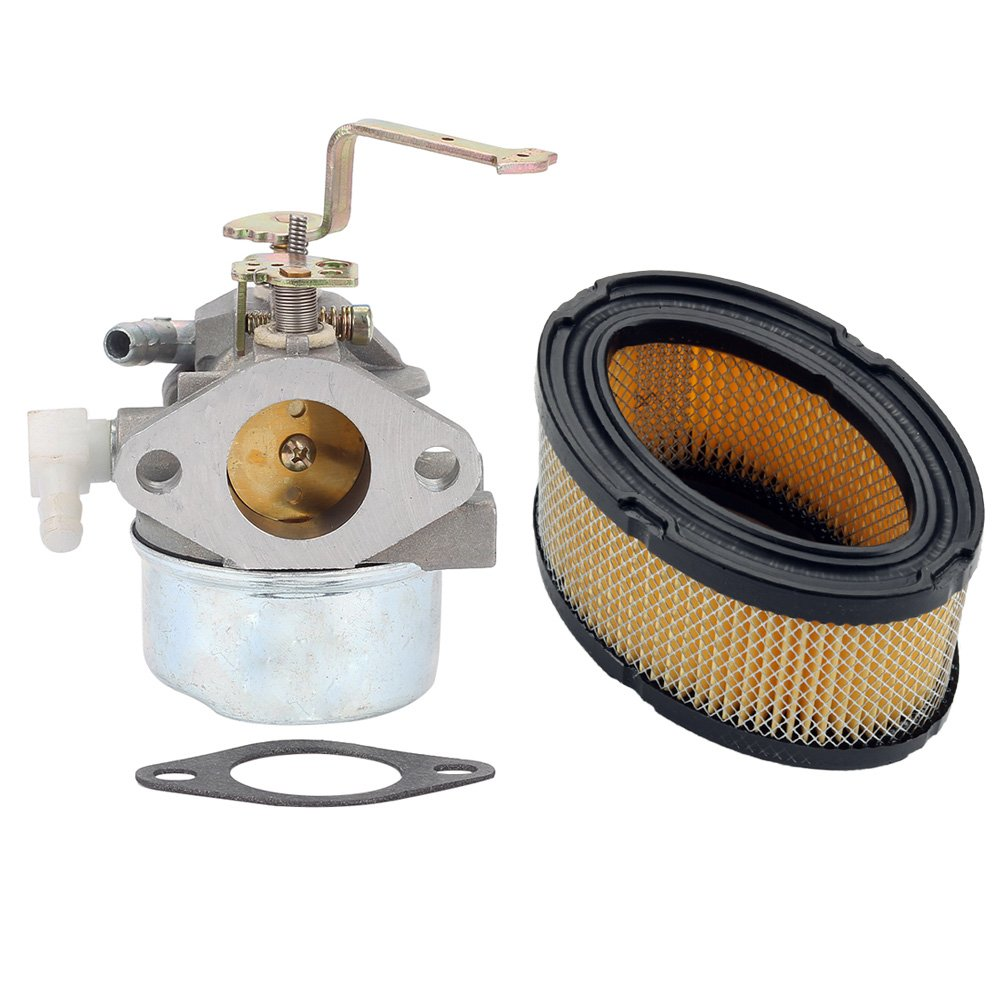 Buckbock Carburetor with Air Filter for Tecumseh HM80 HM90 HM100 LH318XA  LH358EA 640152A 640023 640140 640051 640152 640260 Carb Lawnmower Snow  Blower