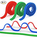 Beelittle 9.8 Ft Building Block Tape for Lego Bricks Self Adhesive Baseplate Strips in Total: 3.28Ft Each Color Compatible with All Major Brands, Red/Green/Blue, 3Rolls