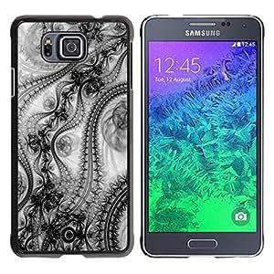 KOKO CASE / Samsung GALAXY ALPHA G850 / patrón de papel tapiz de diseño inspiración de la moda del arte / Delgado Negro Plástico caso cubierta Shell Armor Funda Case Cover