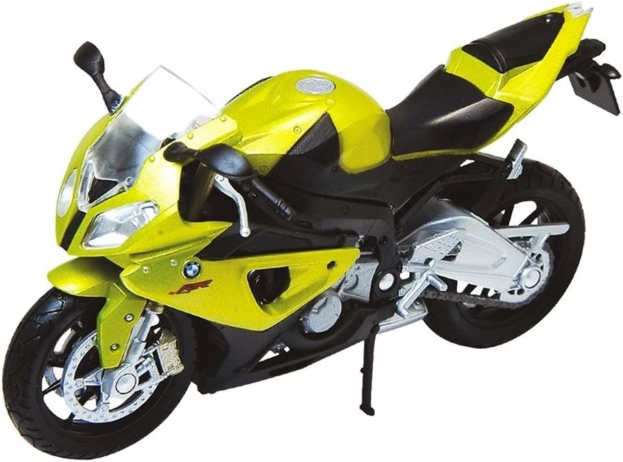 Welly Die-Cast Scale Model Motorcycle Collection BMW S1000RR-Metallic Gold-1:18 Scale-Boxed