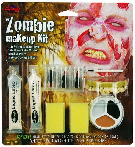 Zombie Make Up Kit Facepaint Set Halloween Monster Ghoul Fancy Dress by Home & Leisure Online ()