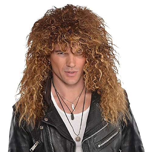 Glam Rock Costumes For Womens (Glam Rock Wig Costume Accessory Adult Halloween)