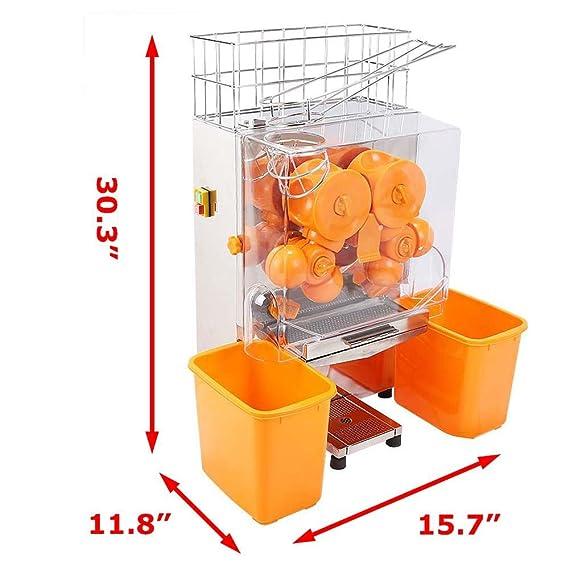 Compra SucceBuy - Exprimidor de naranjas, 20 a 22 naranjas, máquina automática comercial en Amazon.es