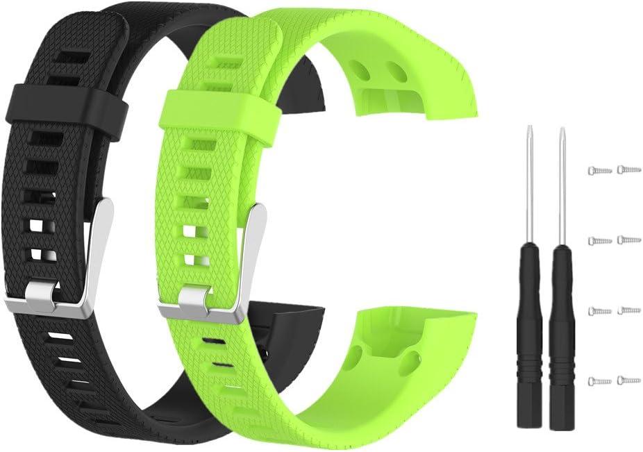 Meiruo Bracelet pour Garmin Vivosmart HR PLUS Bracelet de Remplacement pour Garmin Vivosmart HR+