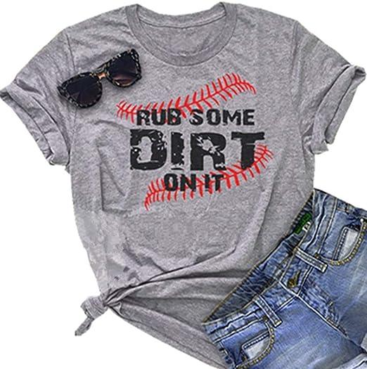 Amazon.com: Rub Some Dirt On It - Camiseta de béisbol para ...