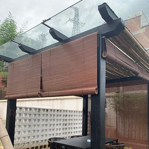Persianas Enrollables para Sombra de Sol al Aire Libre para Pérgola, Sombra Enrollable para Balcón/Patio Trasero/Patio/Garaje, 85cm/105cm/125cm/135cm/140cm de Ancho: Amazon.es: Hogar