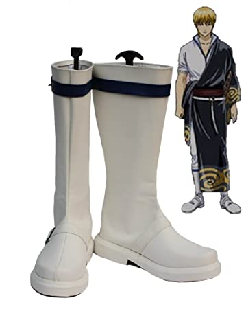 Gintama Sakata Kintoki Cosplay Shoes Boots Custom Made
