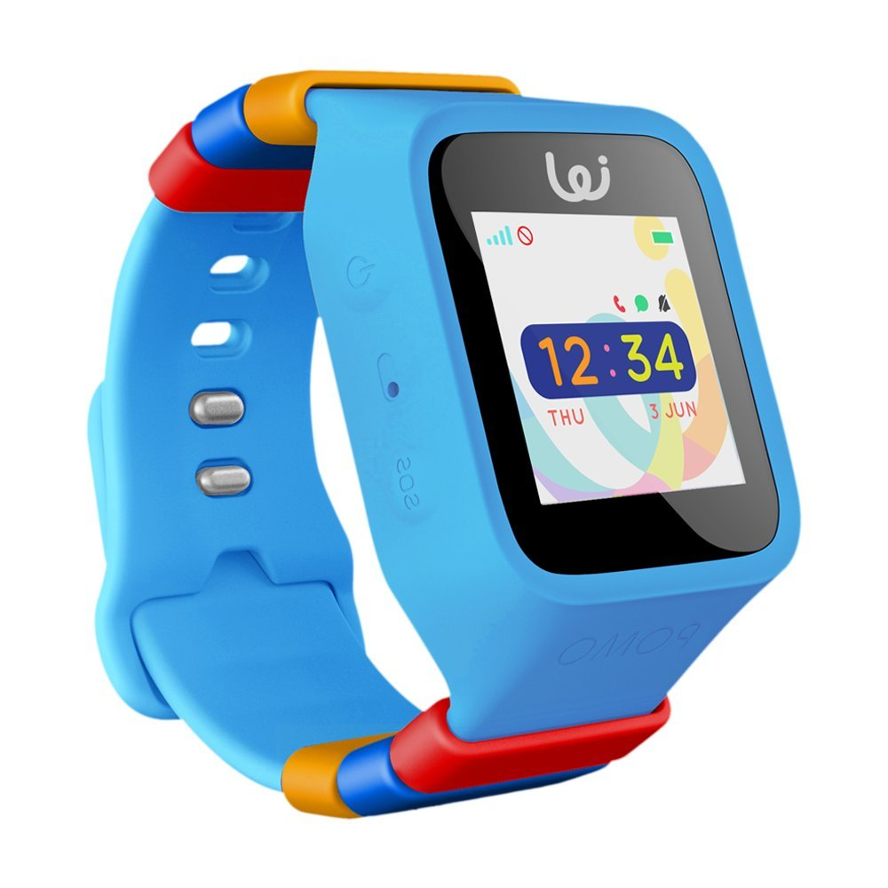 Amazon.com: POMO Waffle Smart Watch GPS Locator for Kids (Blue) with ...
