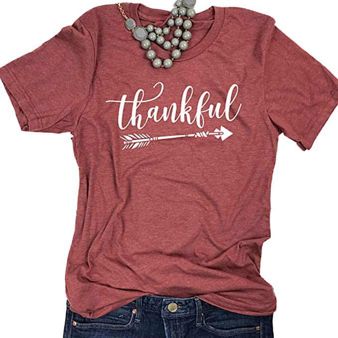 Vin beauty wlgreatsp Agradecimiento DE Flecha Camiseta con Estampado de Letras Blusa de Mujer T-