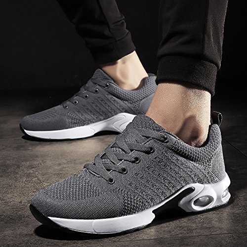 kashiwu Shock Trainer New Shoes Shoes Unisex Lightweight Trainers Absorbing Running 3 Sports Fitness Jogging Gray Gym Women's Air Running Trainers ppRrq