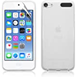 NEW IPOD TOUCH 6TH GENERATION (6TH GEN) CLEAR TPU GEL CASE BACK COVER + SCREEN PROTECTOR & CLEANING CLOTH By Zonewire