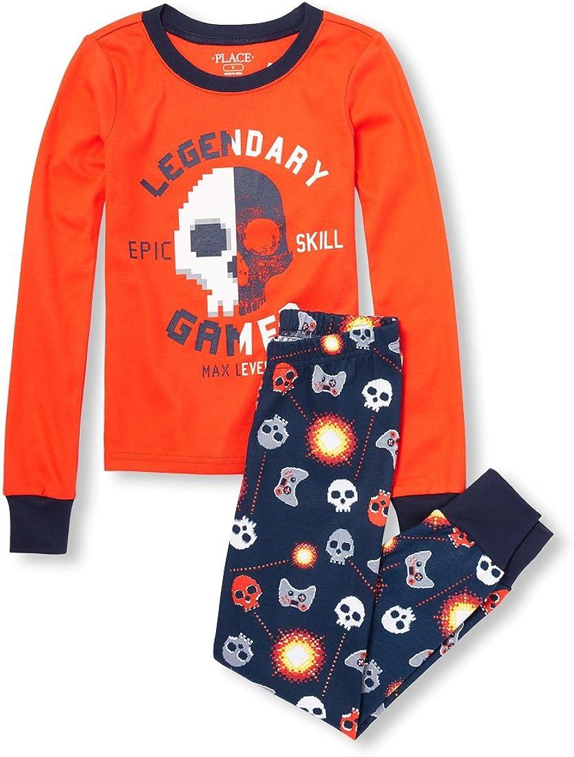 The Childrens Place Big Boys Pajama Top Sleepwear & Robes Pajama Tops