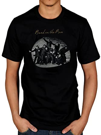 Official Paul McCartney And Wings Band On The Run T Shirt Wild Life London Town