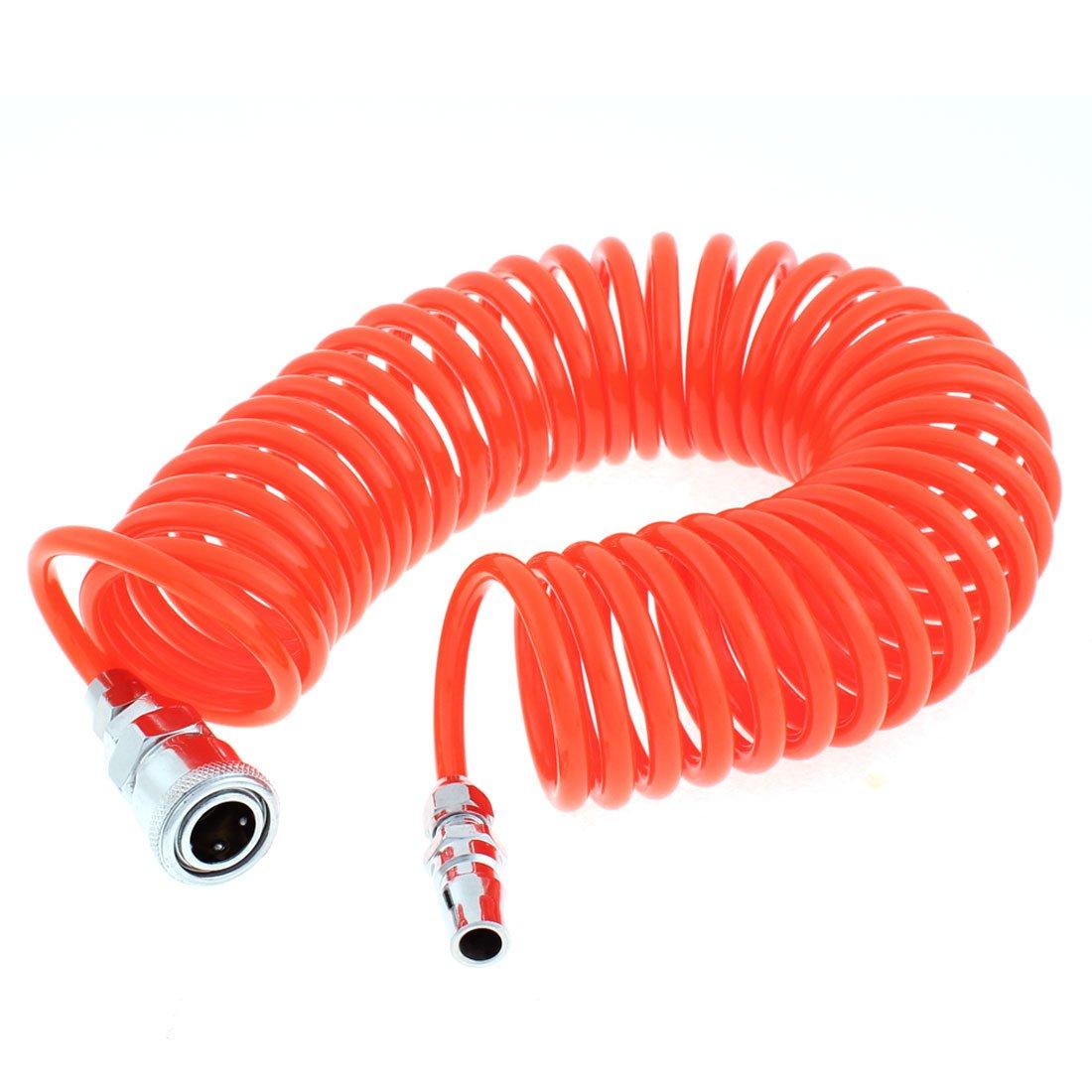 Sourcingmap – Manguera de aire en espiral de poliuretano, 6 m de largo, 6 mm x 4 mm, color naranja a15121100ux0025