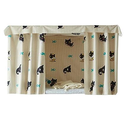 Amazon Com Fancy Pumpkin Simple Dormitory Bunk Bed Curtains