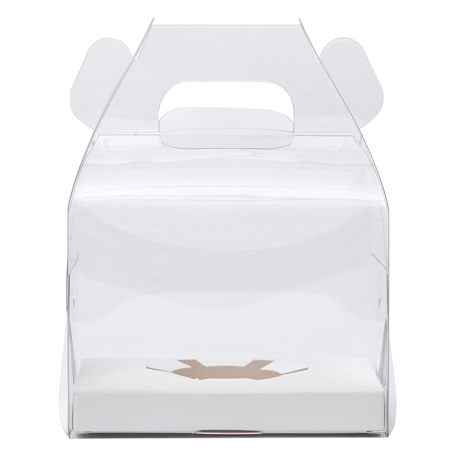 Yotruth Clear Single Cupcake Boxes With Handle and White Insert 20 Pack For Sweet Treat Box by yotruth (Image #1)