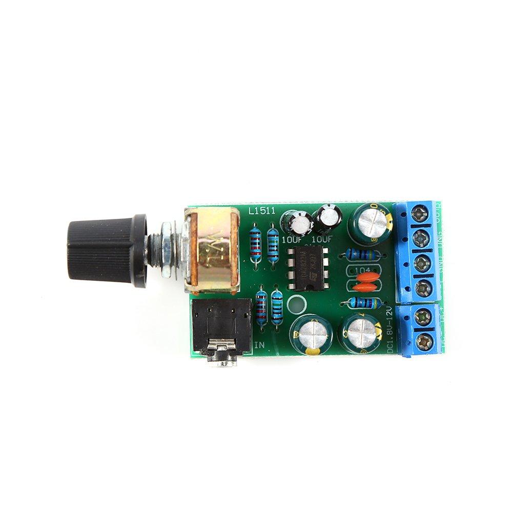 DC1.8 - 12 V tda2822 m amplificador 2 canales estéreo 3.5 mm AUX Audio Amp Board Module: Amazon.es: Hogar